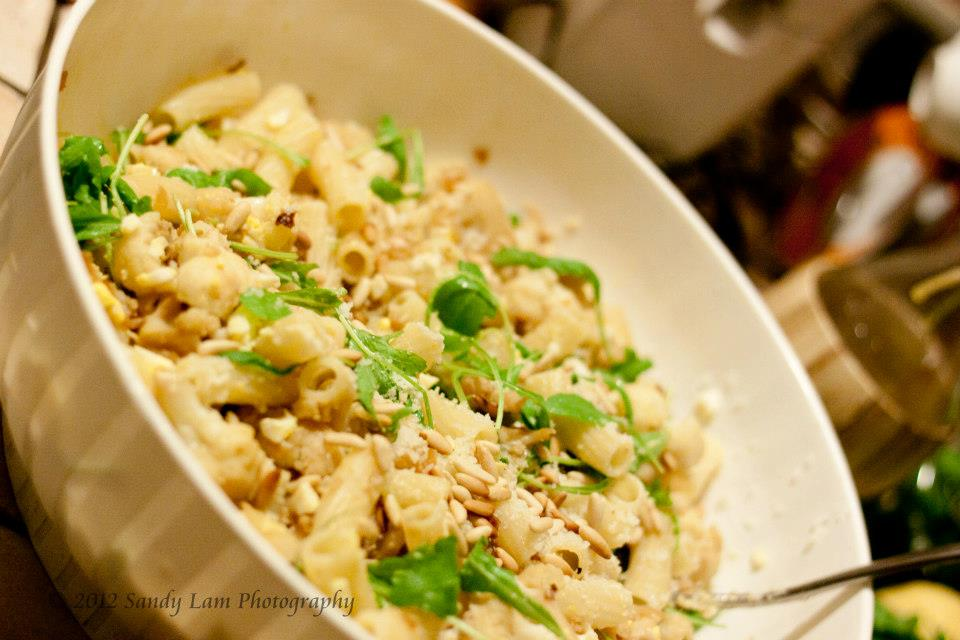 Cauliflower Pasta with Arugula - Sandy Lam Photography ...